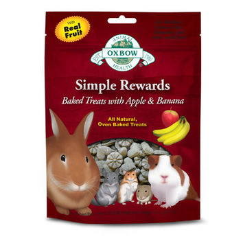Oxbow Simple Rewards Timothy Treats Apple & Banana 55g