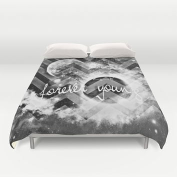forever young Duvet Cover by Haroulita