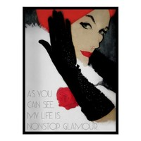 Quote humorous vintage womens fashion poster