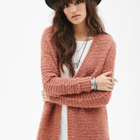 Fuzzy Stripe Knit Cardigan