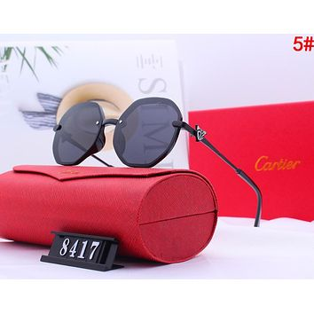 Cartier Fashionable Women Men Casual Shades Eyeglasses Glasses Sunglasses 5#