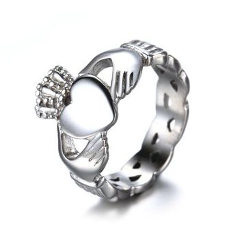 Claddagh Ring For Women Stainless Steel