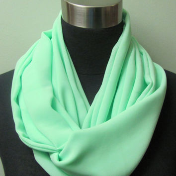 Bright Seafoam Lime Mint Infinity Scarf by GBSCreations on Etsy