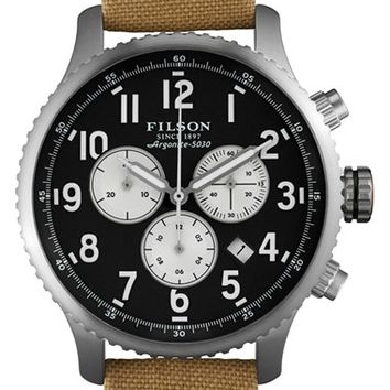 Men's Filson 'The Mackinaw Field' Chronograph Watch, 43mm