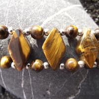 The Double-Striped Tiger I - Tiger's Eye Stone Bracelet