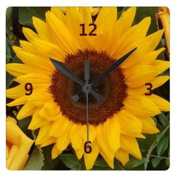Sunflower Flower Floral Photography Clock