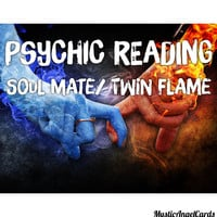 Soul Mate or Twin Flame Psychic Love Reading, Relationship Reading, Are we meant for each other? Accurate and in-depth, email or video