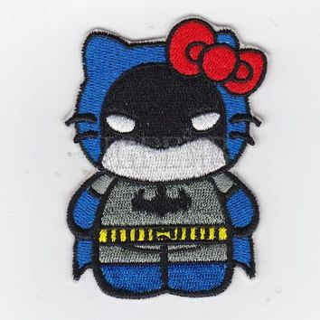 Batman Dark Knight gift Christmas Hello Kitty Batman Kitty Military Tactics Morale Embroidery patch B2551 AT_71_6
