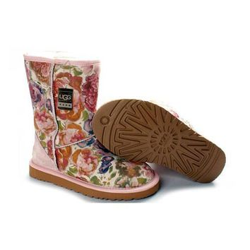 Uggs Boots Black Friday Deals Classic Fancy 5825 Pink For Women 83 46