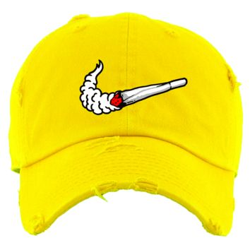 SWOOSH Yellow Dad Hat