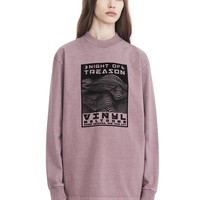EXCLUSIVE MOCK NECK LONG SLEEVE TEE WITH FLOCKING ARTWORK | TOP | Alexander Wang Official Site