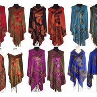 Double Side Butterfly Silk Pashmina Scarf