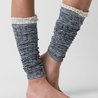 Women's Lace Legwarmer in Blue/Cream by Daytrip.