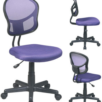 Office Star Mesh Task Chair in Purple - EM39800-512