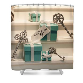 Tiffany's Key to Your Heart Shower Curtain