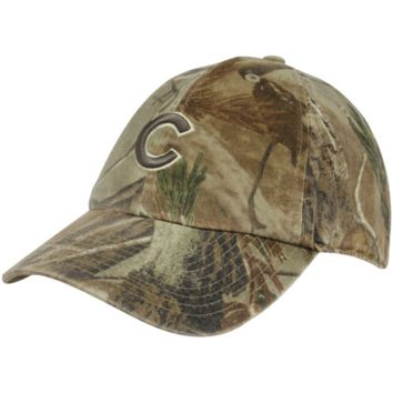 47 Brand Chicago Cubs Real Tree Camo Franchise Fitted Hat