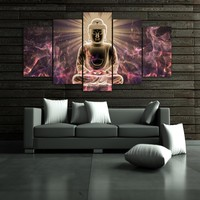 Buddha 5-Piece Wall Art Canvas