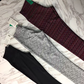 """lululemon"" Fashion Print Exercise Fitness Gym Yoga Running Leggings Sweatpants( 9 Points Long)"