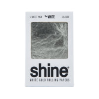 SHINE 24K THE WHITE GOLD ROLLING PAPERS - 1 1/4""