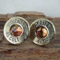 Colt 45 Chili Pepper Bullet Earrings Ultra Thin by ShellsNStuff