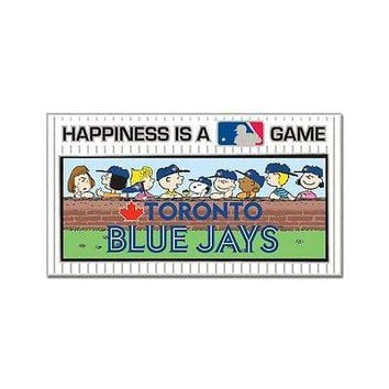 TORONTO BLUE JAYS PEANUTS GANG HAPPINESS IS A GAME COLLECTOR PIN NEW WINCRAFT