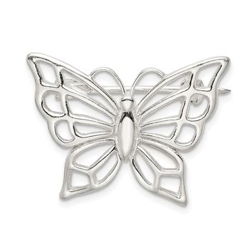 925 Sterling Silver Butterfly Pin