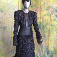 Queen Regina Costume Cosplay--- Evil Queen Dress, Regina Dress, 5 Piece Set, Once Upon A Time, Snow White, Fairy Tale--- Made To Order