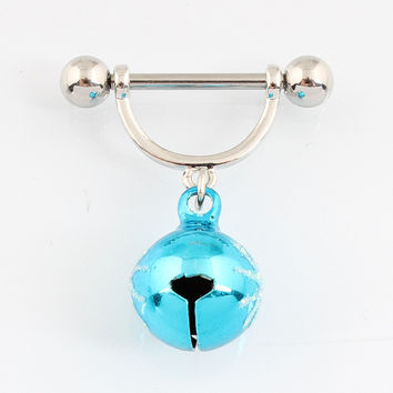 Piercing Bell nipple rings piercing fashion body piercing body jewelry 14G 316L surgical steel bar Nickel-free fashion jewelry