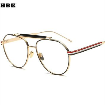 New Luxury Brand Design Sunglass Gold Glasses Optics Frame Clear Vintage Sunglass Women Men Optical UV400 Aviation Sunglass