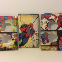 Marvel Spider-Man /  Light Switch Cover / Switchplate Cover / Marvel / Spriderman Outlet Cover