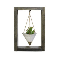 Wall Planter, Air Planter, Concrete Planter, Succulent Planter, Modern Planter, Air Plant Holder, Unique Planter, Gold Planter, Shadow Box