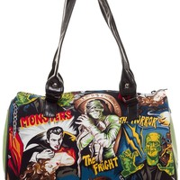 MONSTERS DOCTOR BAG WITH GREEN SPARKLE SIDES