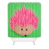 Mandy Hazell Ollie Hedgehog Shower Curtain