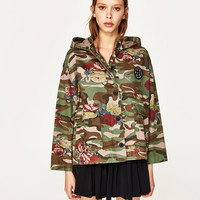 HOODED CAMOUFLAGE JACKET MAUI AND SONS ® DETAILS
