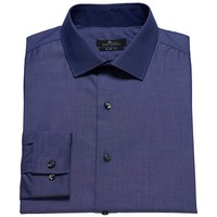 Marc Anthony Horizon Slim-Fit Striped Spread-Collar Dress Shirt - Men, Size: