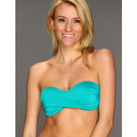 Vitamin A Gold Swimwear Bel Air Bandeau Teal - Zappos.com Free Shipping BOTH Ways