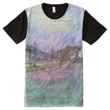 Leirvik photo drawing All-Over-Print shirt