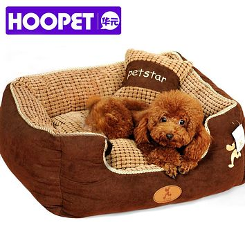free shipping  puppy pet dog bed warming dog house soft materialfa bric sofa warm winter for dog cat pet products give a pillow