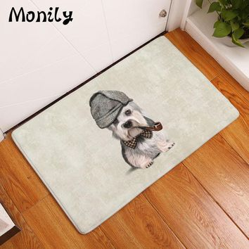 Autumn Fall welcome door mat doormat Monily Waterproof Anti-Slip  Cute Cartoon Dog Hamster Kids Carpets Bedroom Rugs Decorative Stair Mats Home Decor Crafts AT_76_7