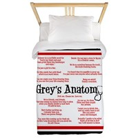 Grey's Anatomy Quotes Twin Duvet