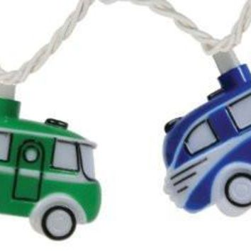 Retro VW Bus Camper Party String Lights, 8-Feet