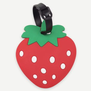 Strawberry Shaped Luggage Tags Card Holder
