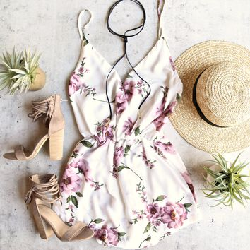 reverse - baby love romper - white/pink floral