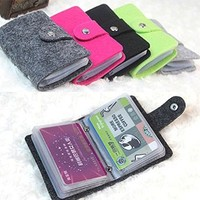 Fashion Credit Business ID Card Holder Pocket Wallet Pouch Cash Organizer 24 Slots