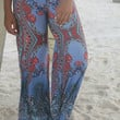 Vacation In The Sun Blue And Red Printed Palazzo Pants