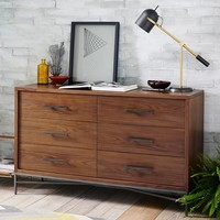 City Storage 6-Drawer Dresser - Walnut