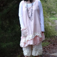 Camille Beautiful Linen Top with Ruffles