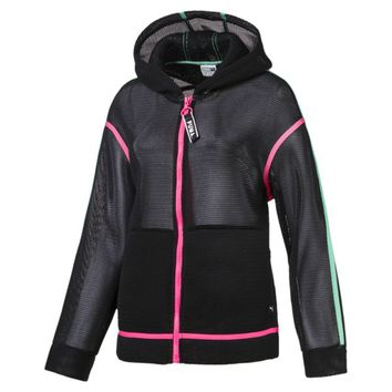 Chase Spacer Zip-Up Women's Hoodie | Puma Black | PUMA Sale | PUMA United Kingdom
