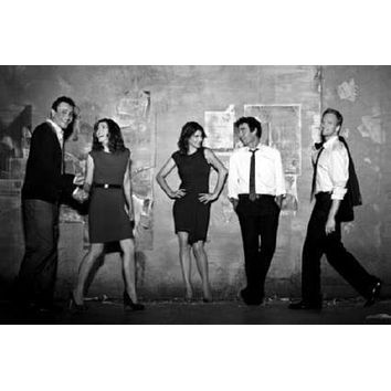 How I Met Your Mother poster Metal Sign Wall Art 8in x 12in Black and White