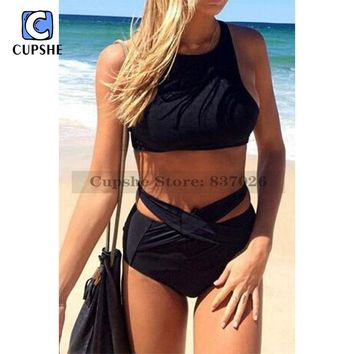 CUPSHE Take Me Out Tank Bikini Set Women Summer Sexy Swimsuit Ladies Beach Bathing Suit swimwear